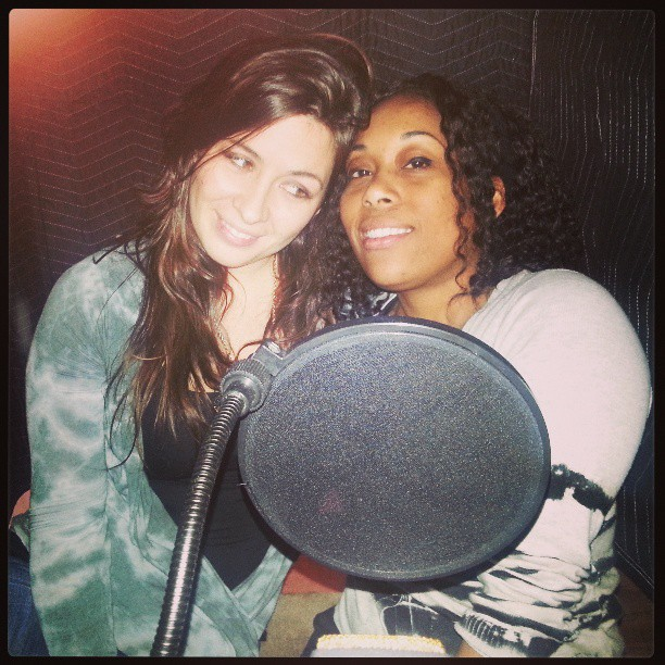 Recording vocals with Kara Hesse ,and Angela Flemming